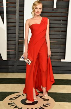 Vanity Fair Oscar Party: Diane Kruger In Donna Karan Atelier | Fashionista Barbie jαɢlαdy