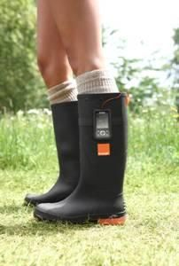 Orange Power Wellies: Boots that charge your cell phone using the temperature differential between your (presumably warm) feet and the cold mud under them.