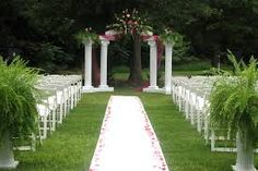 Creative of Garden For Wedding Reception Wedding Decor Outside Wedding Decorations With Bold Colors Our Wedding Ideas - Outdoor Garden wedding Ceremony Wedding Aisles, Wedding Ceremony Ideas, Wedding Entrance, Outdoor Wedding Reception, Outdoor Weddings, Wedding Gazebo, Wedding Ceremonies, Garden Weddings, Outdoor Ceremony