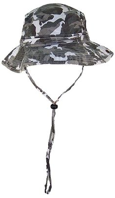 697d7c26f23 Solid Wing Floppy Bucket Summer Hat W Snap Up Sides