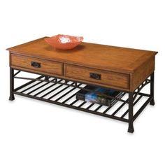Home Styles Modern Craftsman Coffee Table in Oak - BedBathandBeyond.com