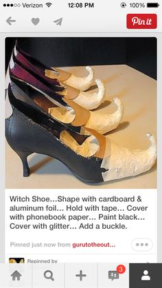 Making witch shoes                                                                                                                                                                                 More