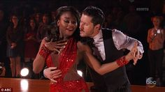 Red hot: The judges all agreed that being jet lagged seemed to have worked out well for Normani