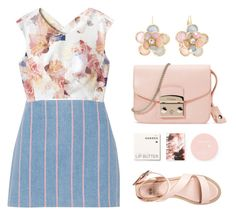"""""""spring wibes"""" by seriouskatya ❤ liked on Polyvore featuring Mixit, Furla, Korres, T By Alexander Wang, Rebecca Taylor and even&odd"""