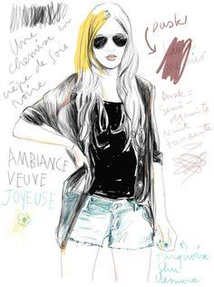 Fashion Illustration by Lucile Prache