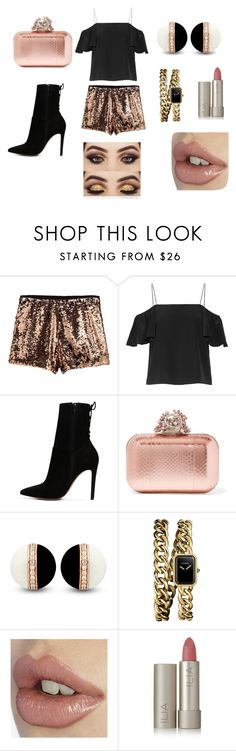 """#golden year"" by eliza147 ❤ liked on Polyvore featuring Fendi, ALDO, Jimmy Choo, Chanel and Ilia"