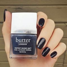 """New favorite shade = """"Earl Grey"""" from butter london, no question about it. Butter London Earl Grey, Butter London Patent Shine, Stylish Name, Nail Polish Art, Earl Gray, Healthy Nails, How To Do Nails, Manicure, Hair Makeup"""