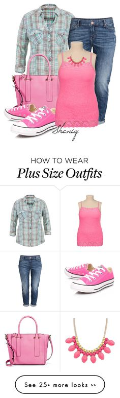 """Casual Chic PLUS by Sheniq"" by sheniq on Polyvore featuring maurices, Merona, Converse and H&M"