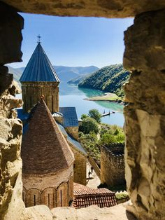 Ananuri a castle complex perched along the turquoise waters of the Aragvi River is a prime example of. Armenian Culture, Georgie, Georgia Country, Man Images, Beautiful Places To Travel, Turquoise Water, Travel Aesthetic, New Pictures, Castle