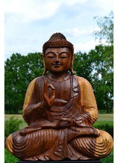 Boeddha Beeld Hout Vitarka 50 cm