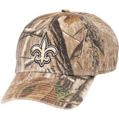 Forty Seven Men's New Orleans Saints Realtree Clean Up Relaxed Cap