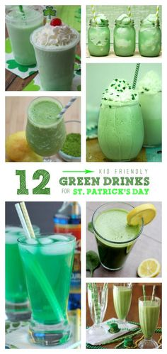 Celebrate St. Patrick's Day with these 12 Drinks that are kid friendly!