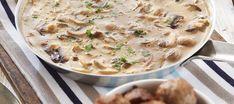 Helppo herkkusienikastike   Lisäkkeet   Reseptit – K-Ruoka Cheeseburger Chowder, Soup, Pasta, Recipes, Recipies, Soup Appetizers, Noodles, Soups, Ranch Pasta