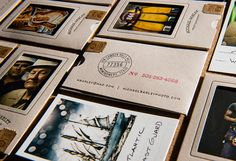 Michael Barley identity –  business card acts as a mini-sleeve for a portfolio sample
