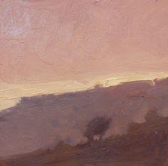 'Ridge Light' 6x6 oil on canvas by David Sharpe