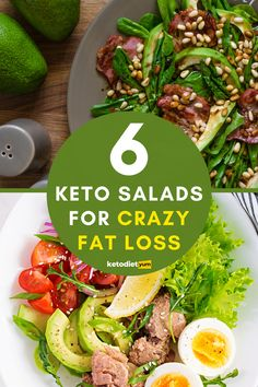 9 delicious low-carb keto salads that are loaded with protein and healthy fats! Looking for some low-carb, healthy yet delicious keto salad recipes you can eat for lunch, dinner, or any time you're hungry?