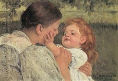 Global Gallery 'Maternal Caress by Mary Cassatt Painting Print on Wrapped Canvas Famous Art Paintings, Popular Paintings, Oil Paintings, Floral Paintings, Mary Cassatt Art, Madonna, Impressionist Artists, Philadelphia Museum Of Art, Oil Painting Reproductions