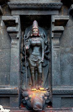 Durgai, Panchanadisvara Temple, Thiruvandarkovil-Puducherry, Tamil Nadu