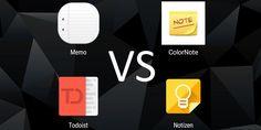 Huawei Apps im Vergleich – Teil 2 – Notizen #Apps #Vergleich #ColorNote