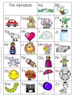 Printables Alphabets For Kindergarten free printable abc chart kindergarten school stuff pinterest charts and kindergarten