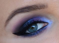 Ombre purple smokey eye by the lovely choccolate91 using the Makeup Geek Corrupt, Nautica, Wisteria and Simply Marlena eyeshadows with Immortal gel liner.