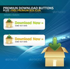 Premium Download Button Template