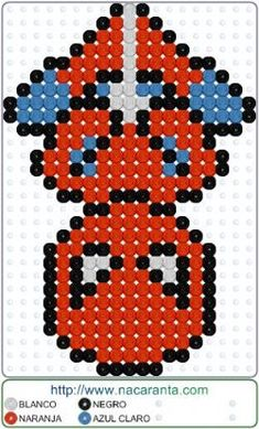 Spiderman down en PLANTILLA HAMA BEADS, Perler Bead Patterns