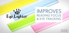 The Eye Lighter highlights multiple lines of text or underlines a single sentence to aid eye tracking, improve reading comprehension and reading fluency. Use it to help with reading focus, speed readi