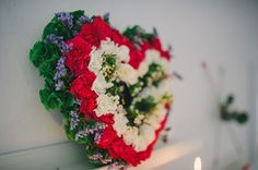 Floral heart designed by Florist Fire | Photo by Regina Rached