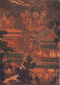 Goryeo Seopum (918-1392) Painting of the Imperial Palace. Medieval Korea.