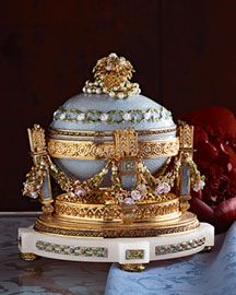 Faberge Faberge Cradle with Garland Egg