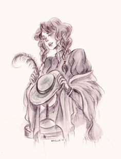 """""""Sophie got into the habit of putting each hat on its stand as she finished it, where it sat looking almost like a head without a body, and pausing while she told the hat what the body under it ought to be like. She flattered the hats a bit, because you should flatter customers."""""""