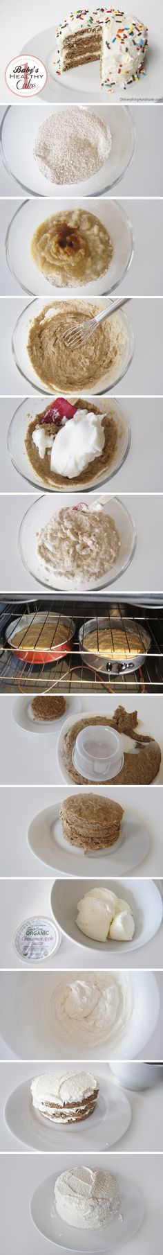 Smash cake first birthday Definitely a do again. Great recipe if you need to use over ripened bananas. Will try honey and whipped cream cheese for birthday cake. Ate warm out of the oven with honey drizzled on top. It was awesome! Baby 1st Birthday, First Birthday Parties, First Birthdays, Birthday Ideas, Birthday Cupcakes, Birthday Celebration, Birthday Gifts, Healthy Birthday Cakes, Healthy Cake