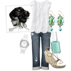 Have all of this!  But would I have put it together?  No!  Love the polish matching earrings.