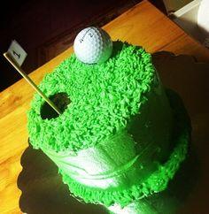 Putting green golf birthday cake