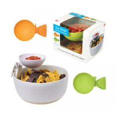 Smart dip bowl. Brilliant for couch snacking. $14.99