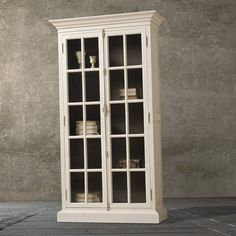 Antique White Bookcase With Glass Doors Door Shelves Book