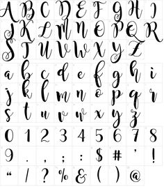 Characters: Magnolia Sky Font Fancy Fonts Alphabet, Calligraphy Fonts Alphabet, Handwriting Alphabet, Hand Lettering Alphabet, Fancy Letters, Graffiti Alphabet, Islamic Calligraphy, Script Fonts, Bullet Journal Lettering Ideas