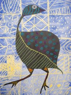 African art project: Adire textile is the indigo dyed cloth made in south western Nigeria by Yoruba women African Art Projects, 4th Grade Art, African Textiles, African Fabric, Africa Art, African Animals, Art Plastique, Elementary Art, Bird Art