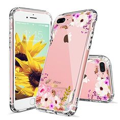 iPhone 7 Case, iPhone 8 Case, MOSNOVO Colorful Floral Printed Flower Pattern Clear Design Transparent Hard Slim Case with TPU Bumper Protective Case Cover for iPhone 7 / iPhone 8 Pretty Iphone 7 Cases, Iphone 7 Cover Case, Girly Phone Cases, Floral Iphone Case, Iphone 8 Cases, Iphone 8 Plus, Buy Iphone 7, Apple Iphone 6s Plus, Coque Iphone