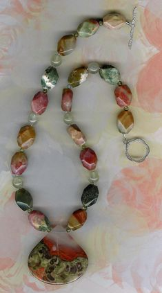 Colors are Nature's Smiles Spderweb Agate by ChicStatements, $75.00