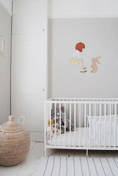 Love the idea of having a character from a childrens' book painted on the wall