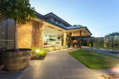 Realm Building Design Echuca - Blair street Moama - path - garden lighting - pool - fencing - alfresco -