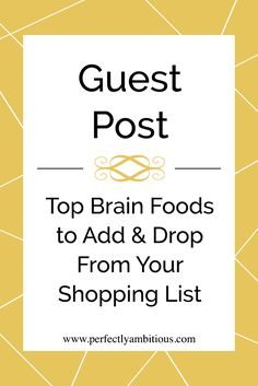 Are you eating the proper brain food? Not sure? Click on the link to read our newest guest post from Dr. Calapai on the top brain boosters to add and brain drainers to drop from your shopping list!
