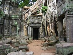 Angkor Wat (Cambodge), noël 2015