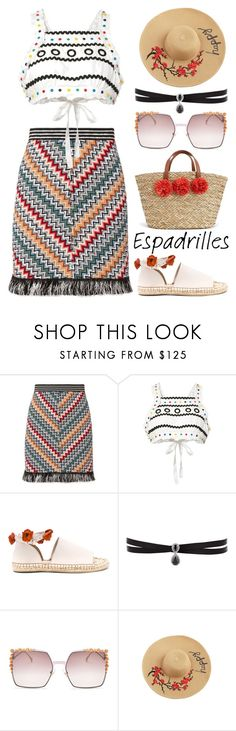 """""""espdrille"""" by michelledhrm on Polyvore featuring Missoni, Dodo Bar Or, Raye, Fallon and Fendi"""