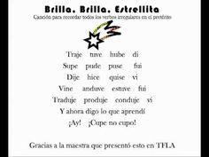 Brilla, Brilla, Estrellita (verbos irregulares en el pretérito) - YouTube