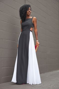 Ecstasy Models — Cut-Out Pleated Maxi Dress Style Pantry Black Women Fashion, Latest Fashion For Women, Look Fashion, Womens Fashion, 50 Fashion, Fashion Bloggers, Fashion Styles, Fashion Boots, Fashion Trends