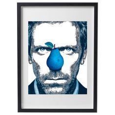 HUGH LAURIE 1 Living room Poster Home Decor Dr Haus by WhiteCanva