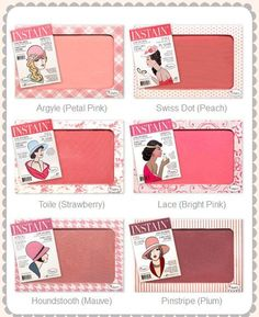 INSTAIN Long-Wearing Powder Staining Blush from The Balm! TheBalm's long-wearing, STAINING powder blush is a fashion must have! With six shades, perfect for all seasons and skin tones, it will give your cheeks color that won't quit. The Balm Makeup, Mac Makeup, Makeup Kit, Makeup Cosmetics, Beauty Makeup, Makeup Products, Blush Makeup, Makeup Geek, Makeup Tools